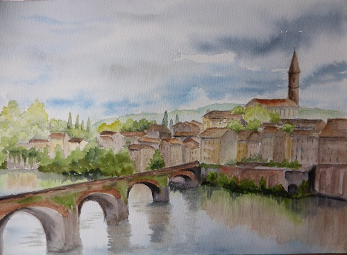 橋から教会