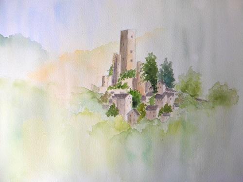 丘の上からお城