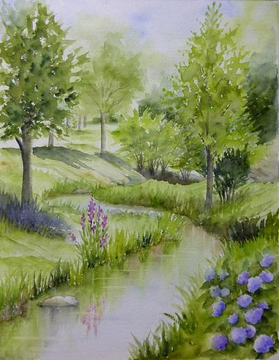鶴見緑地の水辺