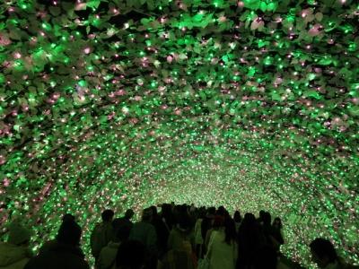 光のトンネル100m