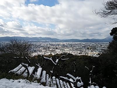 京都中が雪化粧