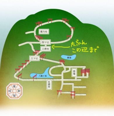 伏見稲荷大社マップ