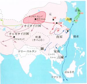 モンゴル帝国図
