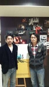 「クアラルンプールの夜明け」左から細井尊人監督、主演の桧山あきひろさん。