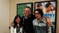 左から細井尊人監督、ピート・テオさん、高塚利恵プロデューサー。