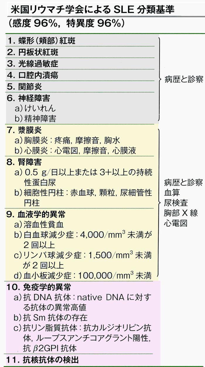 SLE診断基準