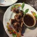 Tong grill pork neck