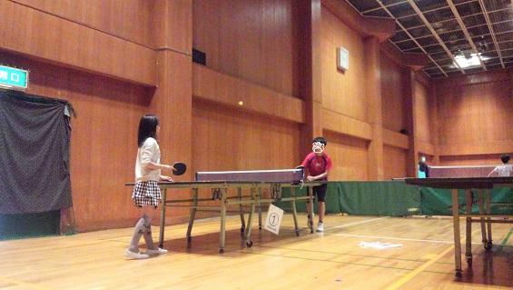 生徒さんと卓球