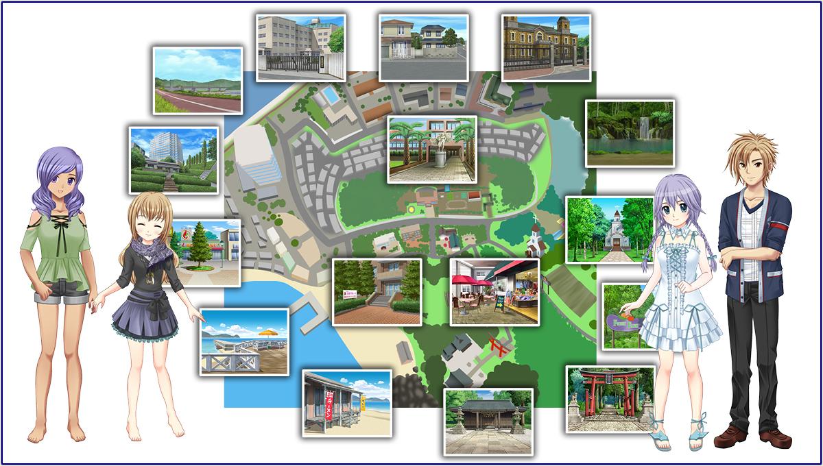 基本プレイ無料のブラウザ学園生活コミュニティゲーム 『キャラフレ』