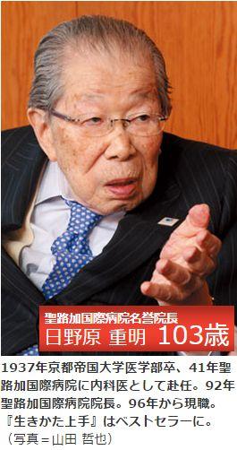聖路加国際病院名誉院長 日野原 重明 氏