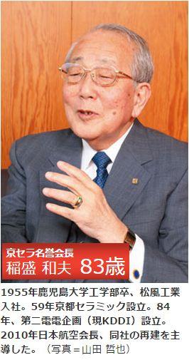 京セラ名誉会長 稲盛 和夫 氏