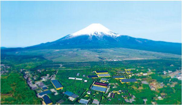 富士の裾野にあるファナック本社・工場