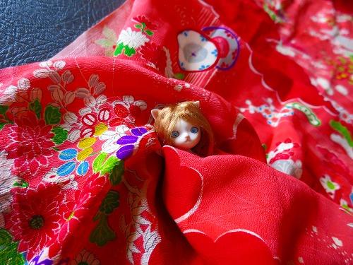 赤い着物1