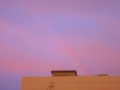 空一面の夕やけ 虹