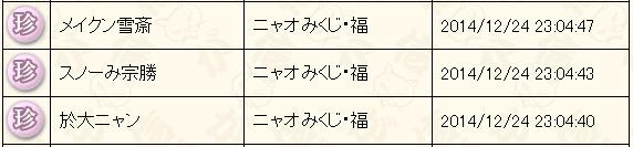 12月末くじ結果2014福