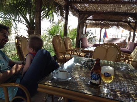 ビーチでビール!