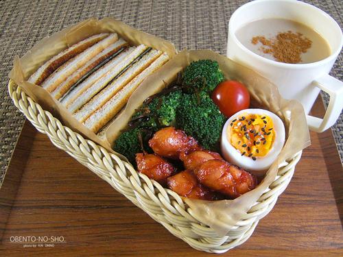 海苔チーズのトーストサンド弁当01