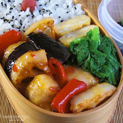 鶏と野菜のスイチリ炒め弁当02