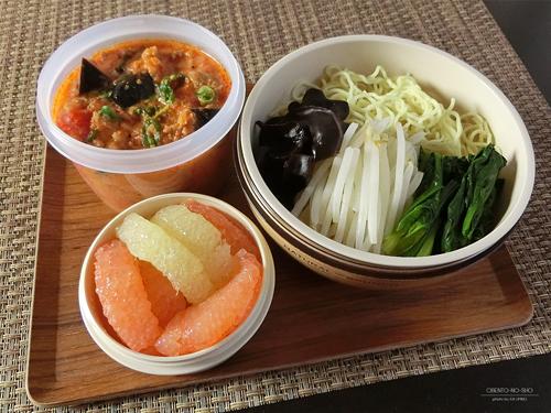 茄子のトマトクリーム麺弁当01