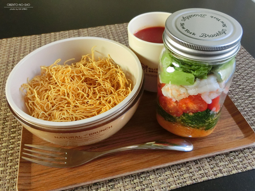 ブルックリンジャーの海老アボカドサラダ麺弁当01