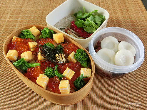 菜の花のちらし寿司弁当01