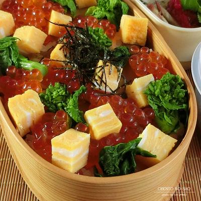 菜の花のちらし寿司弁当03