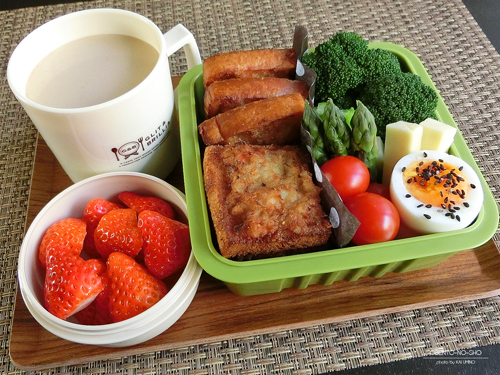 レンコン入り海老トースト弁当01