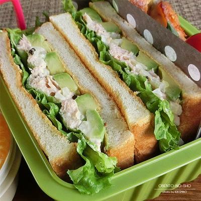 ツナアボカドのトーストサンド弁当02