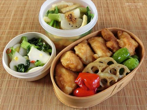 鶏ささみ天丼弁当01