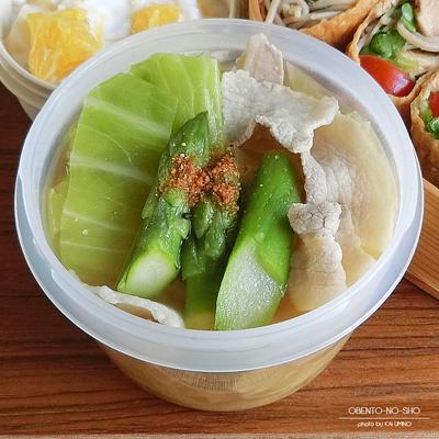 ツナサラダ蕎麦稲荷&3月豚汁弁当03
