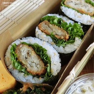 白身魚フライ海苔巻き弁当02