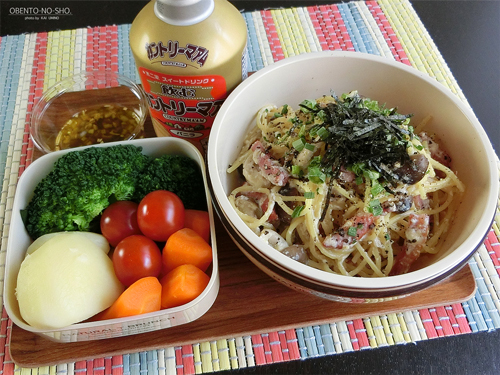 豆腐の味噌漬けパスタ弁当01