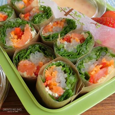スモークサーモン&味噌漬け豆腐の生春巻き弁当02