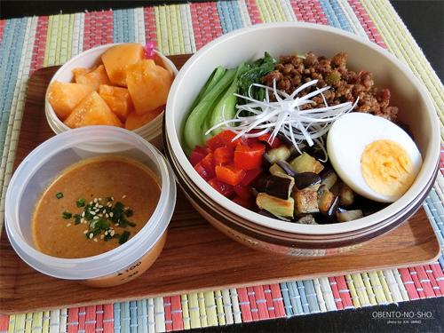 夏野菜の冷やし担々麺弁当01