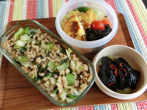 青梗菜とツナの焼き飯弁当01