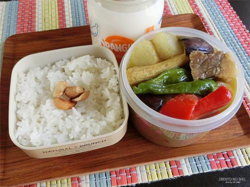 大根と牛肉のグリーンカレー弁当01