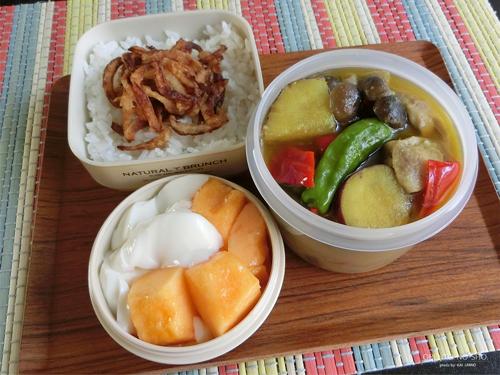 さつま芋のグリーンカレー弁当01