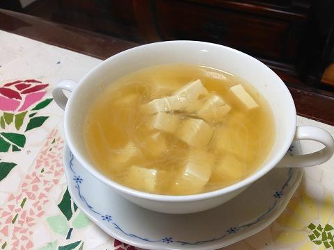豆腐と春雨スープ