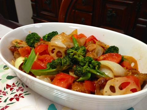 鶏肉と春野菜