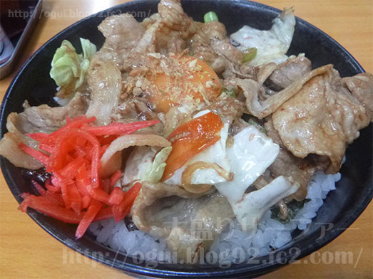 上野のラーメンちゃんぷのすた丼024