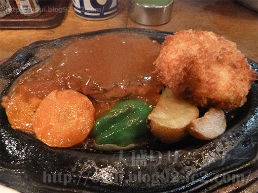 青戸の洋食やまぐちさん焼肉野菜定食ご飯大盛り027