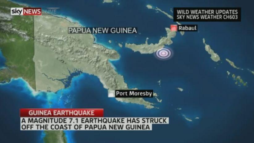 【大地震】パプアニューギニアでM7.1の地震発生