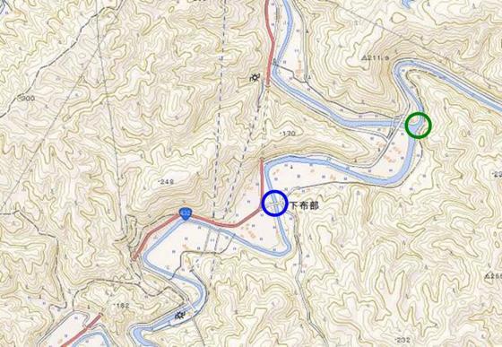 現在の地図(橋の位置)