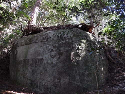 山添桝形の前の岩