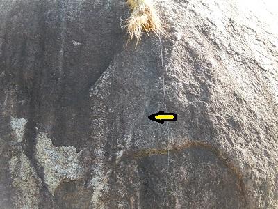 長寿岩のライン