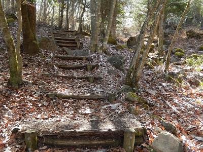 天狗岩への道
