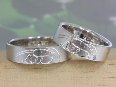 マリッジリング(結婚指輪)/雨