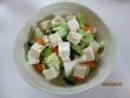 海水漬け野菜と豆腐のサラダ1