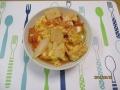 高野豆腐のチリ玉丼1