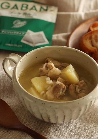 じゃが芋とチキンと押し麦のスープ煮